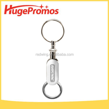 Promotional Separate Key Rings Printed Detachable Keychain