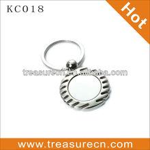 round custom metal name keychain