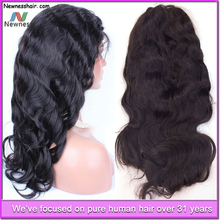 No tangle no shedding brazilian human hair remy full lace wig with baby hair free shipping free sample