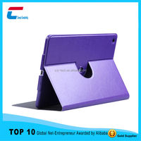 2015 China supplier new smart rotating cover leather folio case for iPad air , stand sleep for ipad air leather case cover