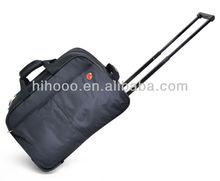 Black Nylon travel duffle bag duffel bag with trolley rolling duffel bag
