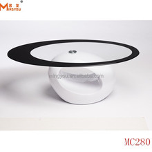 Brand New Modern Oval Glass Coffee Table 110x65cm