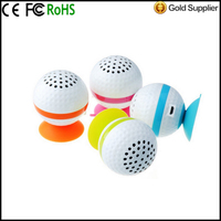 Golf Ball Bluetooth Mini Wireless Speaker Handsfree with Silicon Suction for Apple iPhone 4 4S 5 5S 5C Samsung Galaxy S4 Note 3