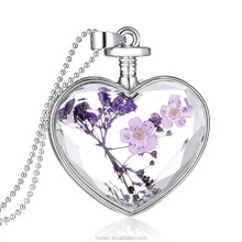 2015 New Hot Sale Design!!! Crystal Pendant Perfume Bottle Pendant necklace Valentine's Day present