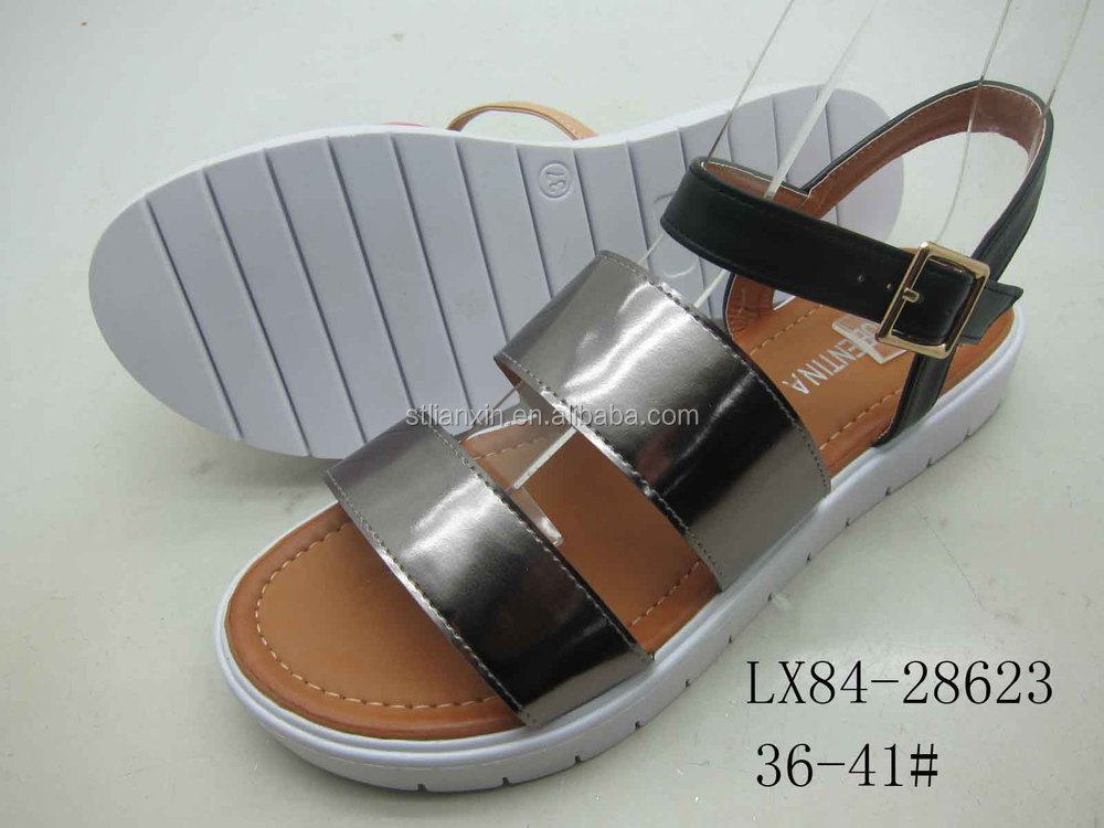 2015 nuevo diseño de zapatos de la señora mujeres del verano sandalias y zapatillas, Fabrica