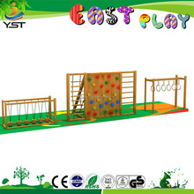 Wood outdoor playground mountain climb