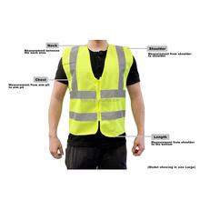 Meet EN20471 standard 5cm high visibility Safety Vest Unisex safety vest with zipper closure