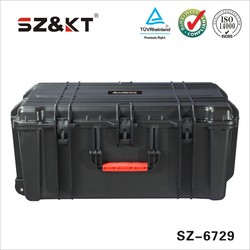 Hard large plastic tool equipment case with handle