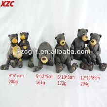 Polyresin Black Bears,Animal Decoration,Resin Garden Decorative Crafts