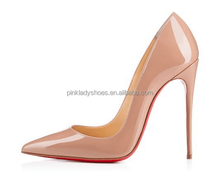 Jushee 2015 6 Colors Big Size Women Pumps Sexy Red Bottom Pointed Toe High Heels Shoes New Design Party Shoes JS-P-003
