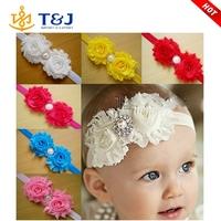 >>>>2015 Hot Sale Fashion Pearl Rhinestone Fabric Infant Headbands /