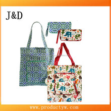Standard Size Reusable Eco Grocery Beach Bag Foldable Shopping Bag With Pouch