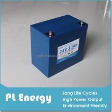 light weight 24v 30ah LFP electric vehicle batteries