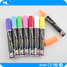 Erasable colorful fluorescent marker pen for LED writing board / fluorescent ink economical highlighter marker pen