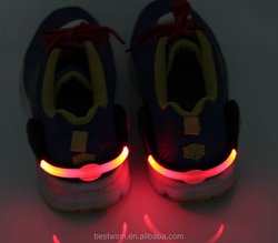 Color flash led light shoe clip bike cycling sports led lights for shoes