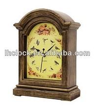antique bird decoration desk clock