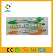 pull paper pen,promotional pen with roll out paper,banner ball pen good for promotional