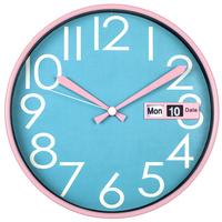 30cm colorful plastic flip calendar wall clock