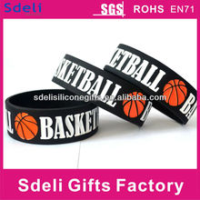 high quality debossed filled basketball silicone energy wristband