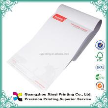 colla legato top di alta qualità a buon mercato disegno di stampa personalizzati a4 a5 colorato carta intestata