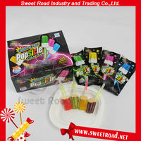 Popular Mix Fruity Milk Ice Cream Light Stick Lollipop Candy/Light Up Lollipop/Lighting Stick Lollipop