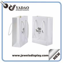 White Jewelry Paper Bag Packaging & Printing Paper Bag Making Machine Custom Jewelry Bags