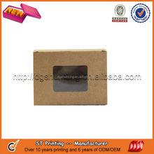 Kraft paper box with pvc window