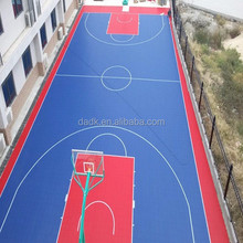 Removable indoor/outdoor basketball interlocking mobile floor