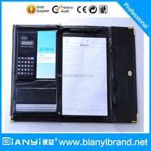 A4 Conference Folder Zipped Folio Faux Leather Document Portfolio Case Organiser
