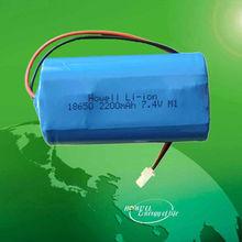 Li-ion Battery 18650 2200mah 7.4V Rechargeable
