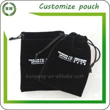 Hongway Customized Logo Velvet pouch / velvet jewelry pouch / Jewellery velvet bag