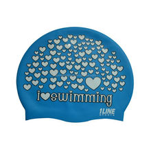 sun protection silicone adult funny swim cap,printable waterproof fish shape swim cap for kids UN-0607