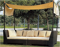 Outdoor Bali Beach day beds with cushion and canopy