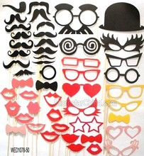Mask Photo Booth Props Lips Moustache On A Stick For Wedding Party Decoration