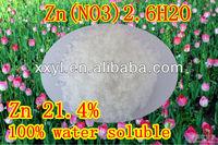 98% Tech Grade Zinc Nitrate , Zn(NO3)2.6H2O