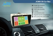 JIMI 1080P smart car DVR vedio recorder gps google map navigator with 3G Andriod system gps tracking
