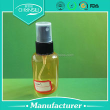 2014 hot sale in China 50ml pet pocket sized perfume spray bottle