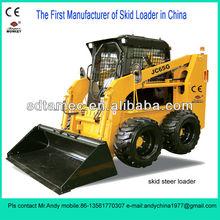 Skid steer loader,Bobcat,skid loader (JC65) with 75hp diesel engine,loading capacity is 950kg