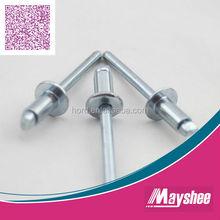 Open end galvanized steel rivet