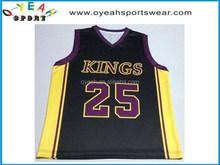 Custom design excellent quality unisex basketball tops