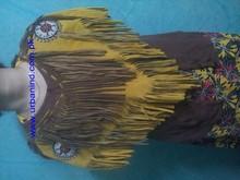 Batı tarzı saçaklı ve boncuklu süet deri deri panço, cowgirl panço, bayan batı panço, deri panço, panço