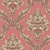 Detai deep embossed PVC wallpaper factory, classic damask designs vinyl washable wall paper