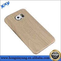 Brown color Wood Leather case for samsung galaxy s6