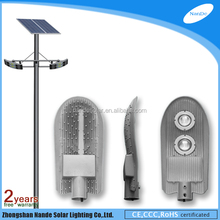 2015 engineering plastics waterproof box for battery solar powered security lights with double light arms