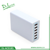 Newest Powerful High Speed 6-Port 50W USB Desktop Rapid Wall Charger Travel Power Adapter With Smart IC For iPhone