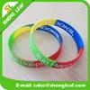 Personalized Silicone Rubber Rainbow Multi Color Silicone Bracelet