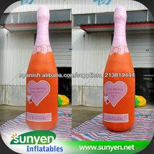 Botellas hinchables baratos gigante botella de cerveza inflable para hacer publicidad