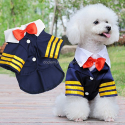 2015 New fashion DogLemi Pet Dog Teddy Navy Sailor Suit Hot Dog Jumpsuit Costume Coat