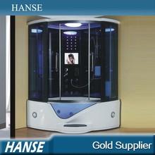 Hs-sr023 de gama alta de vapor sala con bañera de masaje bañera de vapor y ducha