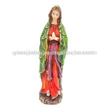 B-036 artesanías de resina religiosas estatua de la virgen maría la decoración